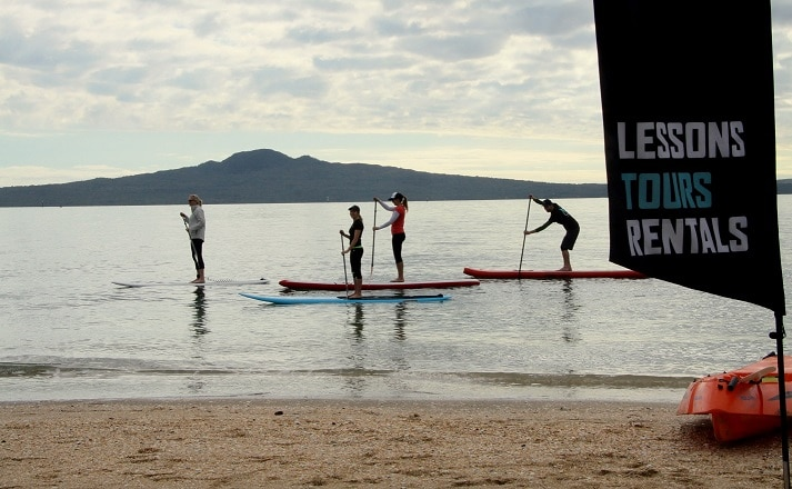 Paddle Boarding Mission Bay Auckland New Zealand
