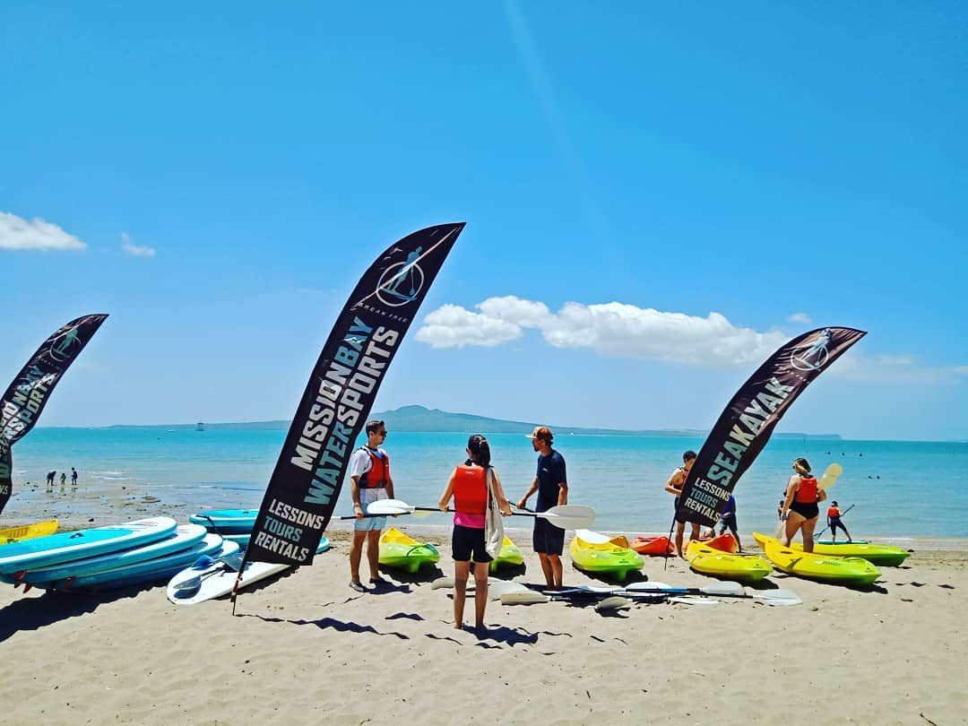 Water Sports Instructor at Mission Bay Beach, Auckland