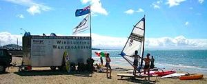 Windsurfing auckland at mission bay